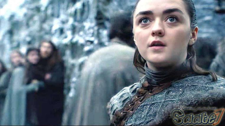 آریا استارک در سریال game of thrones در وینترفل