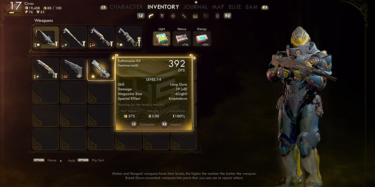 در بازی The Outer Worlds آیتم های مختلفی وجود دارد.