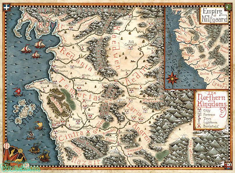 نقشه ی دنیای witcher