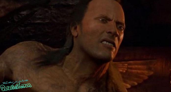 نقش آفرینی جانسون در فیلم The Mummy Returns