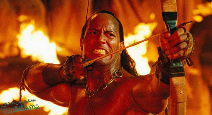 نقش آفرینی جانسون در فیلم The Scorpion King