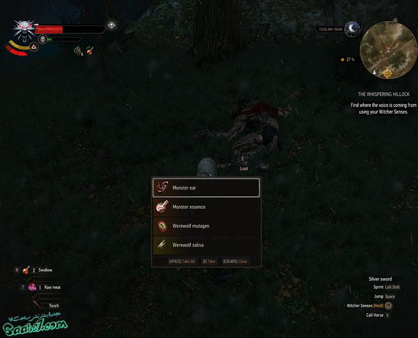 راهنمای The Witcher 3 / مرحله The Whispering Hillock