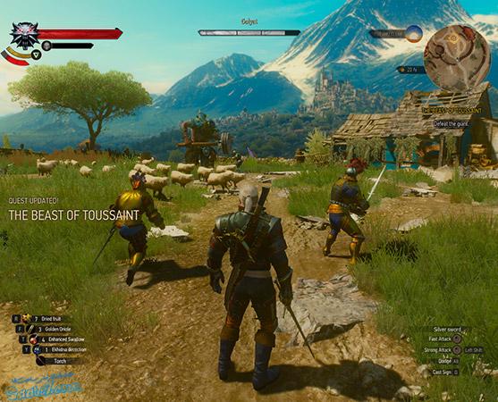 راهنمای پک Blood and Wine ویچر3/ ماموریت اصلی The Beast of Toussaint