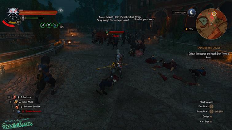 راهنمای پک Blood and Wine ویچر3/ ماموریت اصلی Capture the Castle