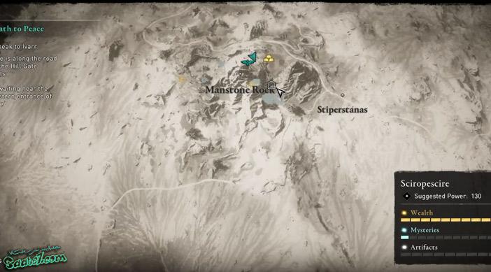 راهنمای بازی Assassins Creed Valhalla : آیتمها و موارد مخفی منطقه Sciropescire