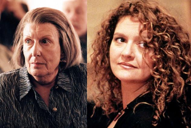 مادر تونی سوپرانو (Livia Soprano) با بازی Nancy Marchand و جنیس خواهر تونی (Janice Soprano)