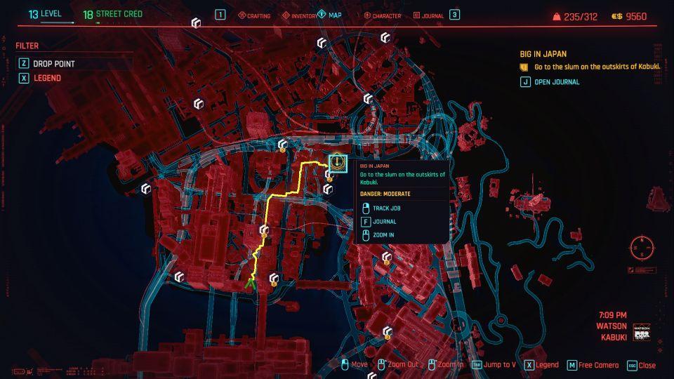 راهنمای بازی Cyberpunk 2077 / ماموریت فرعی Big in Japan