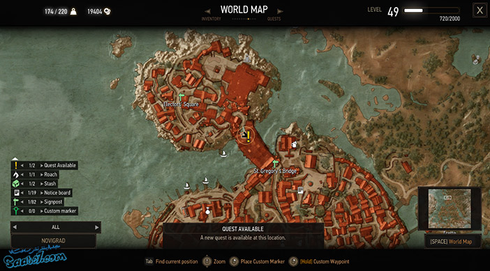 راهنمای بازی The Witcher 3 / ماموریت فرعی Novigrad, Closed City